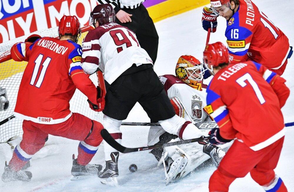 Jäähoki Venemaa vs Läti