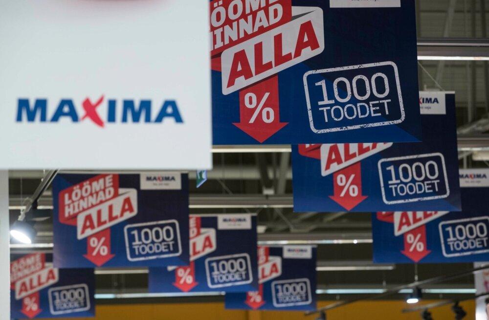 Maxima fikseerib 1000 toote hinna. Hinnad alla