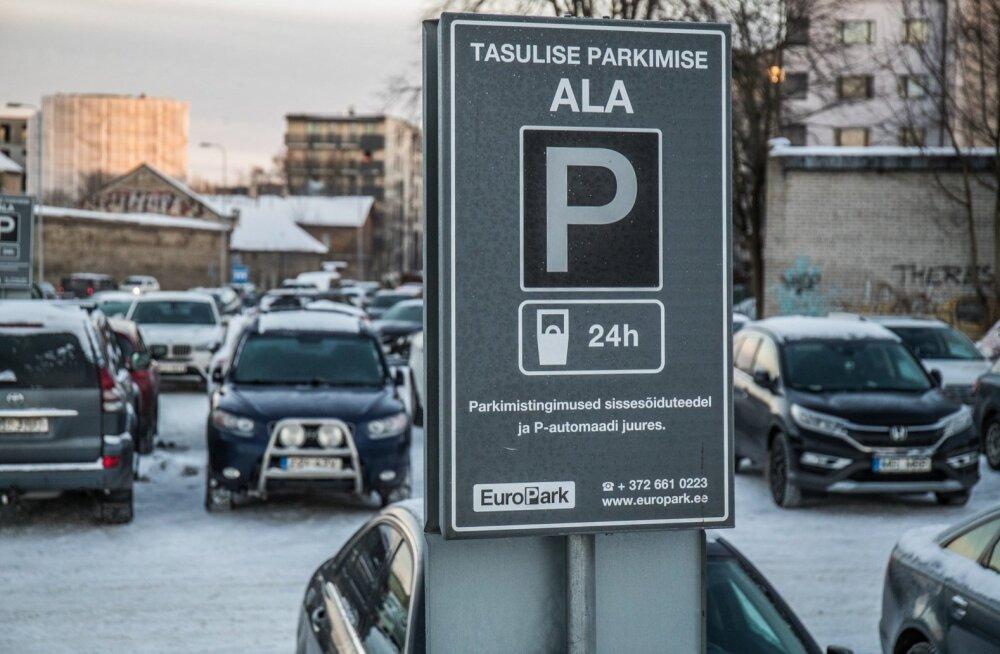 Kõik EuroPargi parklad on tähistatud tasulise parkimise ala märkidega ning parklasse sissesõidul on kirjas parkimistingimused, millega parkija autot parklasse jättes vaikimisi nõustub.