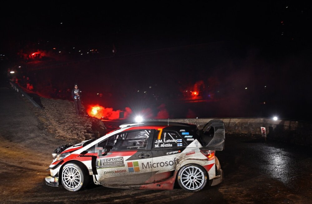 Jari-Matti Latvala Monte Carlo rallil.