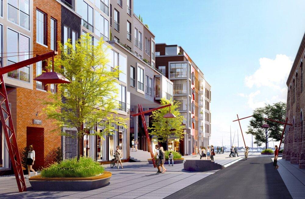 Noblessneri tööstuspiirkonnast saab merele avatud linnaruum