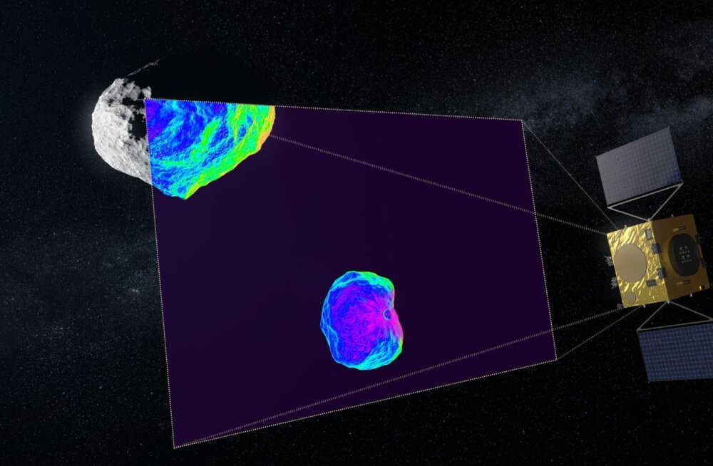 Hera kasutab infrapunakaamerat, et uurida kokkupõrke tagajärjel tekkinud kraatrit