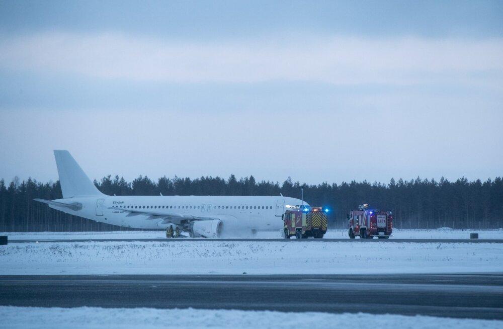 Rajalt väljasõitnud lennuk