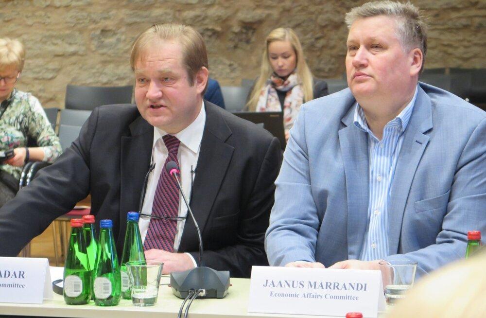 Kaks endist põllumajandusministrit: Ivar Padar (SDE) ja Jaanus Marrandi (SDE)
