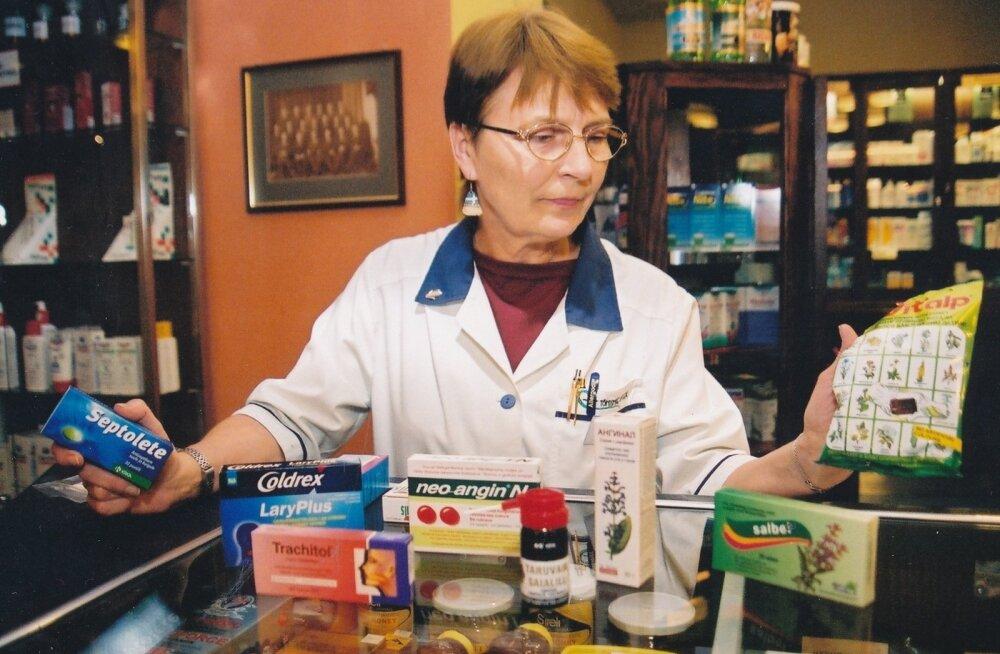 Apteek ,apteeker, ravimid, külmetusravim