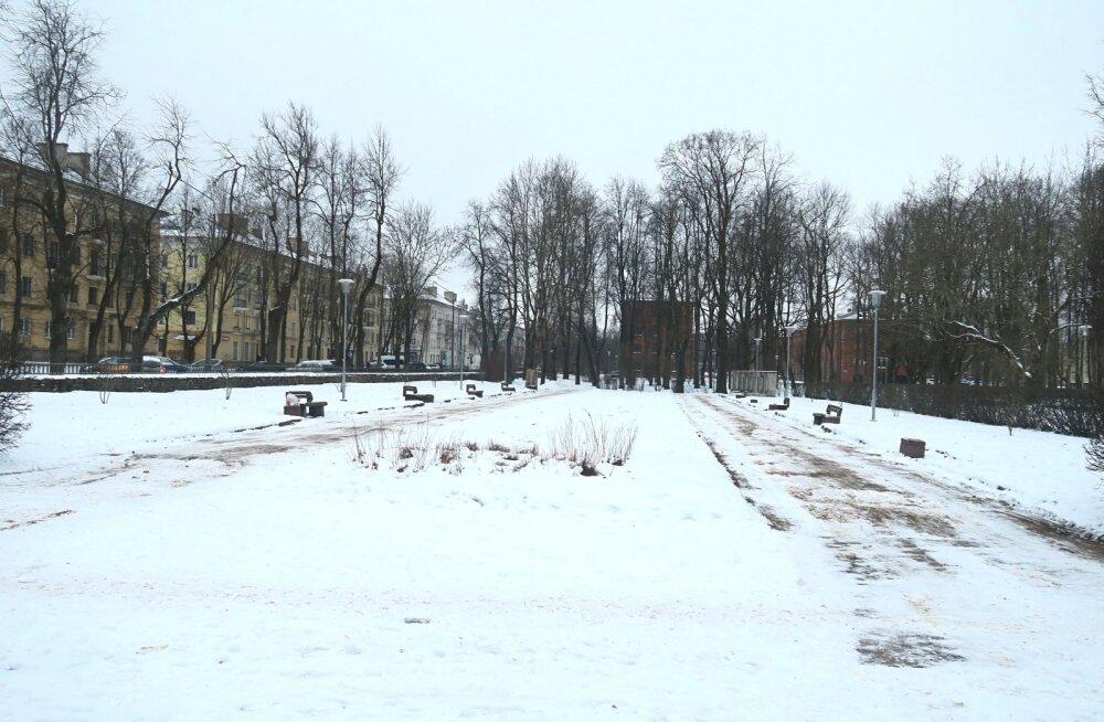 В Нарве начинаются работы по реконструкции парка у бывшего ДК Герасимова
