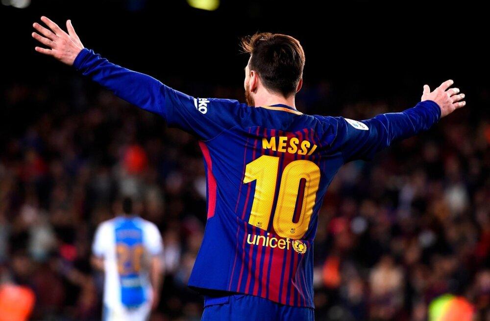 Lionel Messi kõmmutas kolm väravat.
