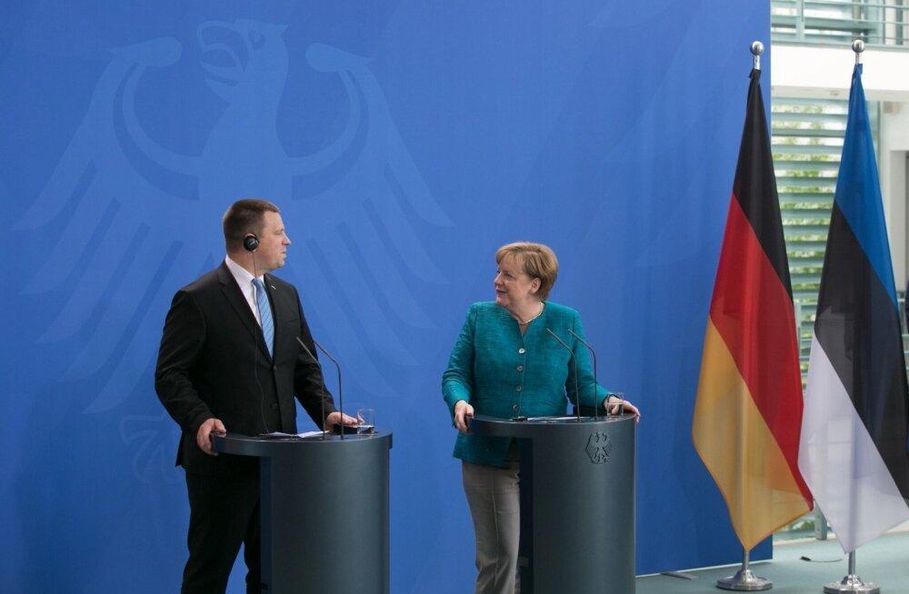 ЭКСКЛЮЗИВ: Меркель: выражаю признание Эстонии, которая принимает беженцев и помогает им