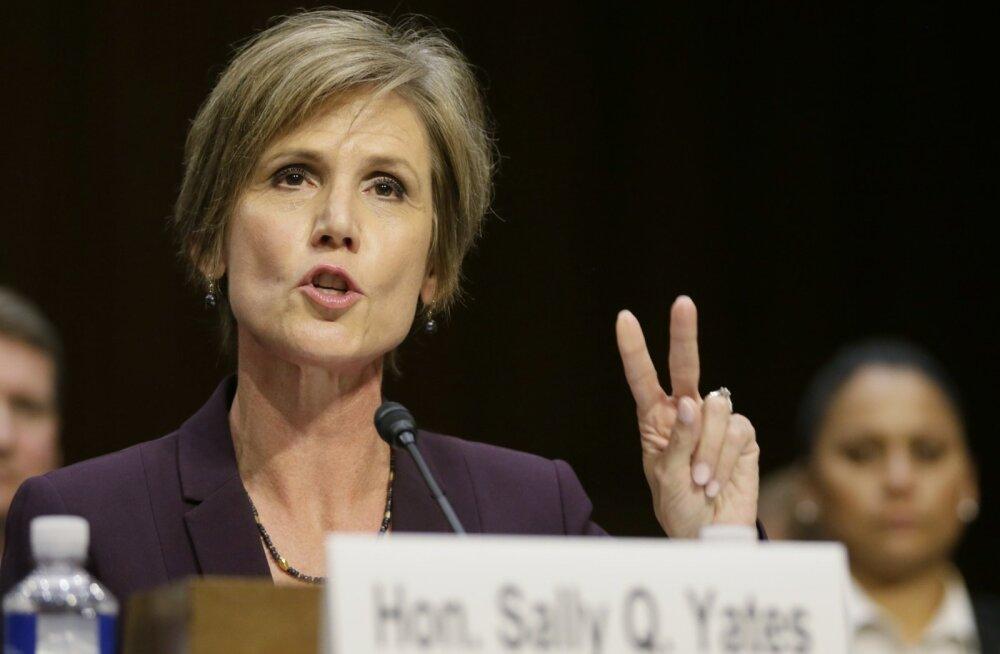 Sally Yates kinnitas, et ta pakkus Flynni tegevuse kohta tõendeid, kuid Valge Maja ei soovinud neid näha.