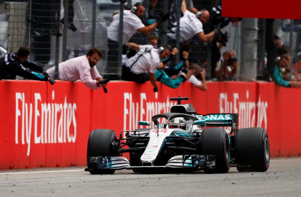 BLOGI   Hamilton võitis dramaatilise Saksamaa GP, Bottas kindlustas Mercedesele kaksikvõidu, Vettel katkestas liidrikohalt