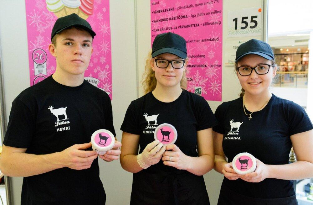 Õpilasfirma toodab Kajamaal kitsepiimajäätist