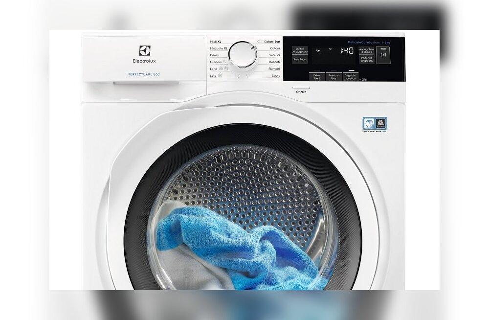 Eriliste kangaste hooldamiseks mõeldud uued pesumasinad ja -kuivatid