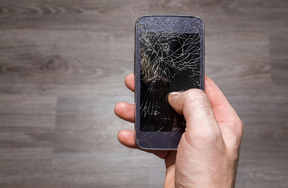 Nutitelefoni mõranenud ekraan
