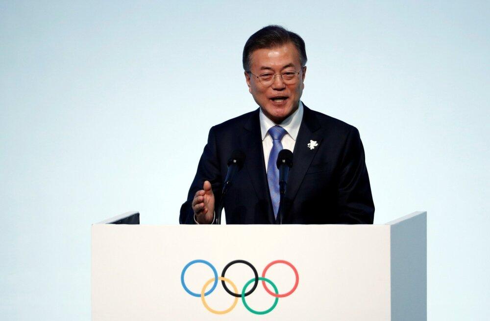 Lõuna-Korea president paljus Kaljulaidilt toetust Koreade vahelisele dialoogile