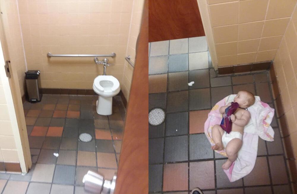 Suurbritannia isad suure mure ees: mehed käivad oma beebidega naiste tualettruumides mähkmeid vahetamas, sest meeste WC-d on jõledalt räpased