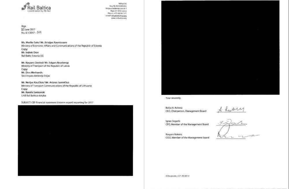 Loe läbi musta tindi: MKM saatis Rail Balticu kriitikutele täielikult tsenseeritud dokumendid