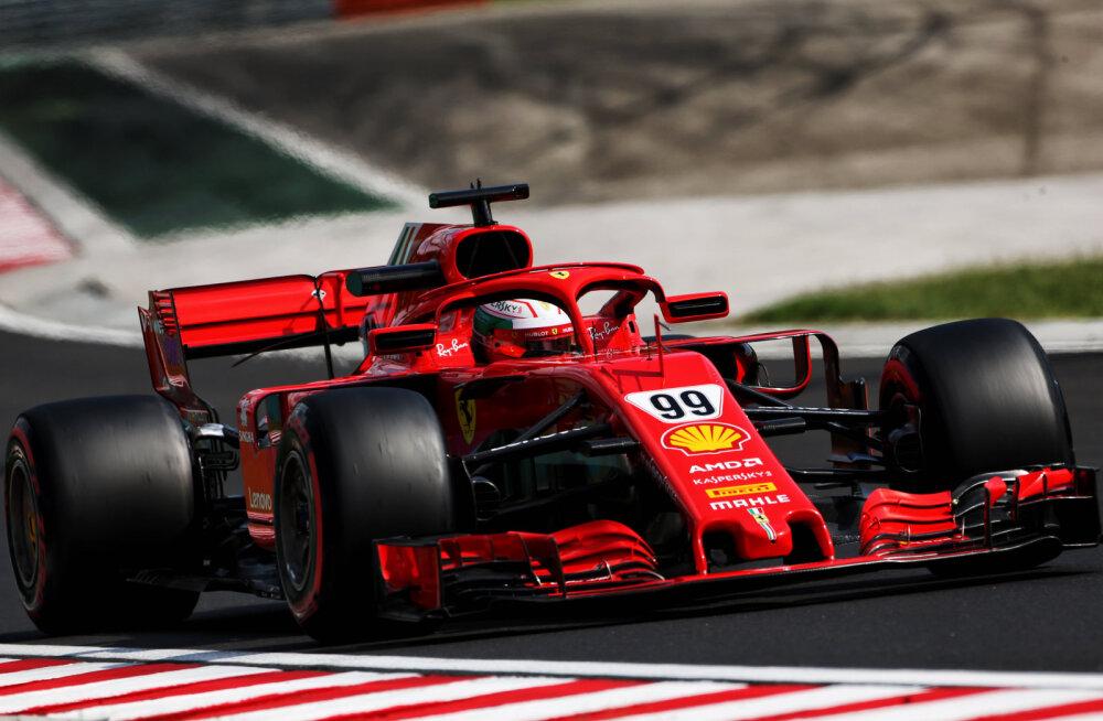 Ferrari testisõitja purustas Budapestis Vetteli rajarekordi