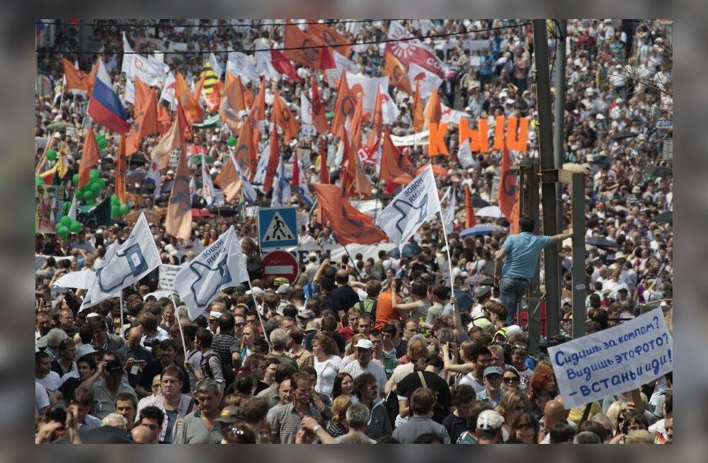 FOTOD: Moskva miljonite marsist osavõtjad jõudsid suure miitingu toimumispaika