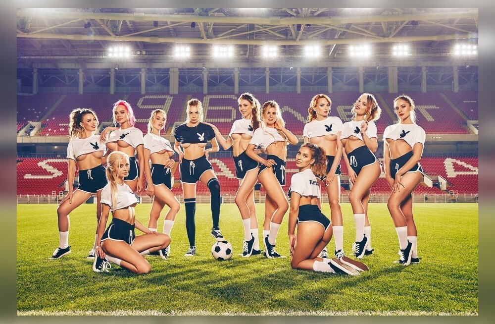 FOTOD | Venemaa Playboy modellid tegid lugejatele jalgpalli MM-iks erilise kingituse