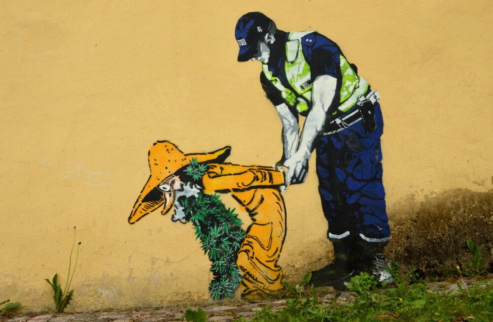 Eesti ühe salapäraseima tänavakunstniku Edward von Lõnguse teost saab näha Kumus