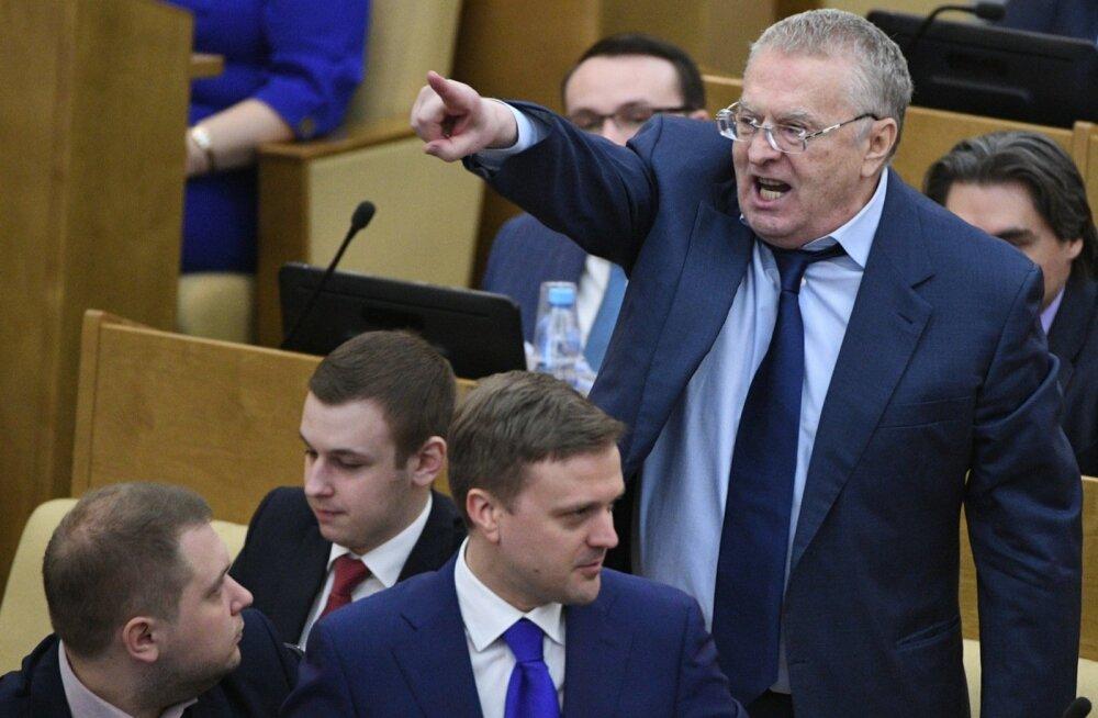 VIDEO: Žirinovski riigiduumas: järgmisel aastal lähen Kremlisse ning hakkan teid maha laskma ja üles pooma, kaabakad