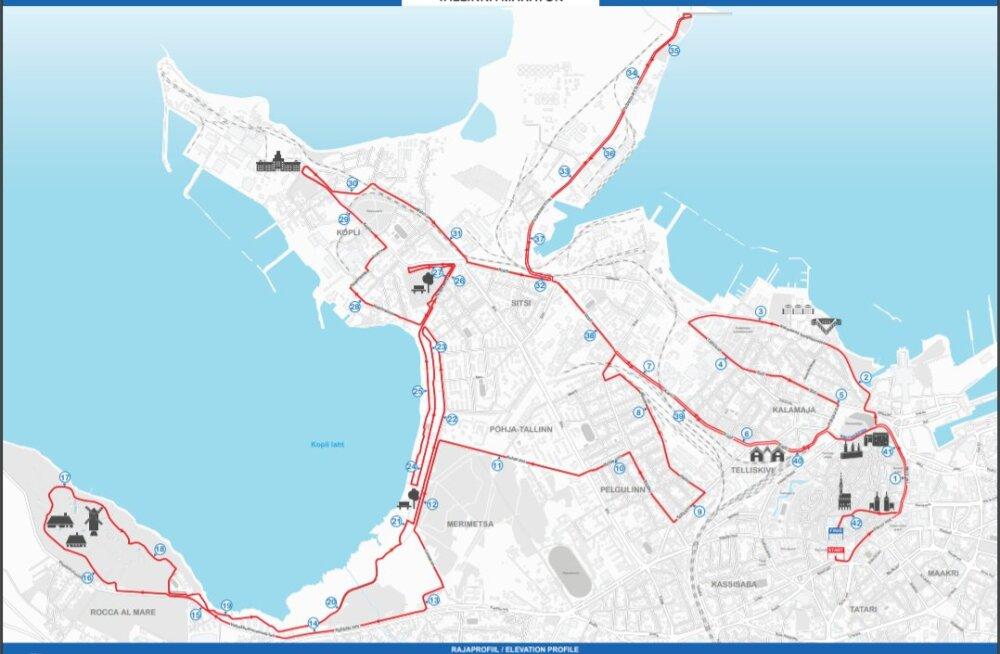 Tallinna Maratonini on jäänud veel kuu aega - vaata, millised hakkavad välja nägema erinevate distantside rajaskeemid!