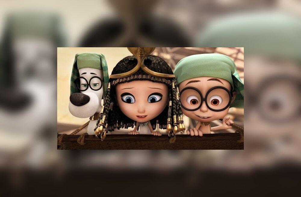 """Kaader animafilmist """"Härra Peabody ja Sherman""""."""
