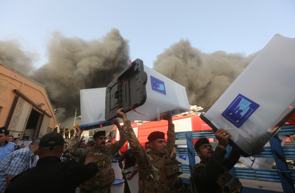 Iraagi valimissedelite ladu põles paar päeva enne häälte ülelugemist maha