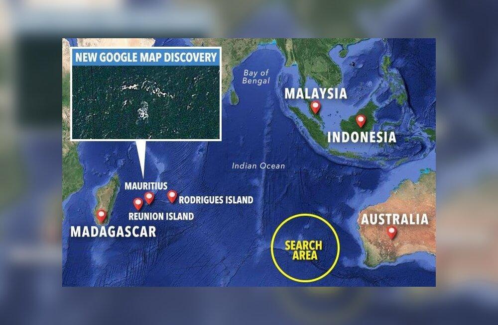 "Пропавший малайзийский Boeing ""нашли"" на картах Google Maps"