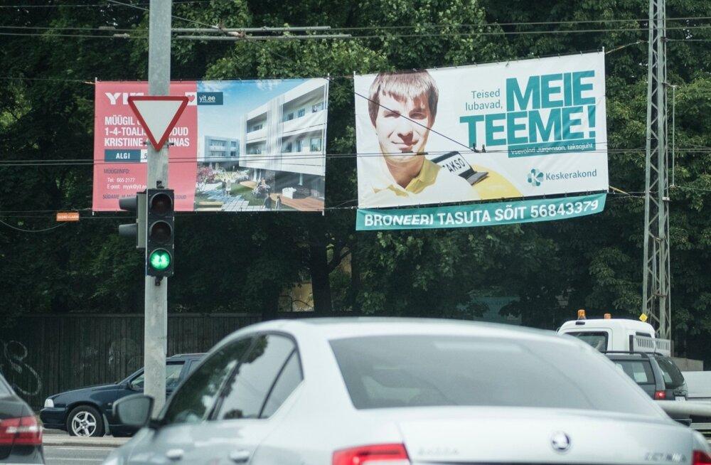 Keskerakonna taksojuhi plakat