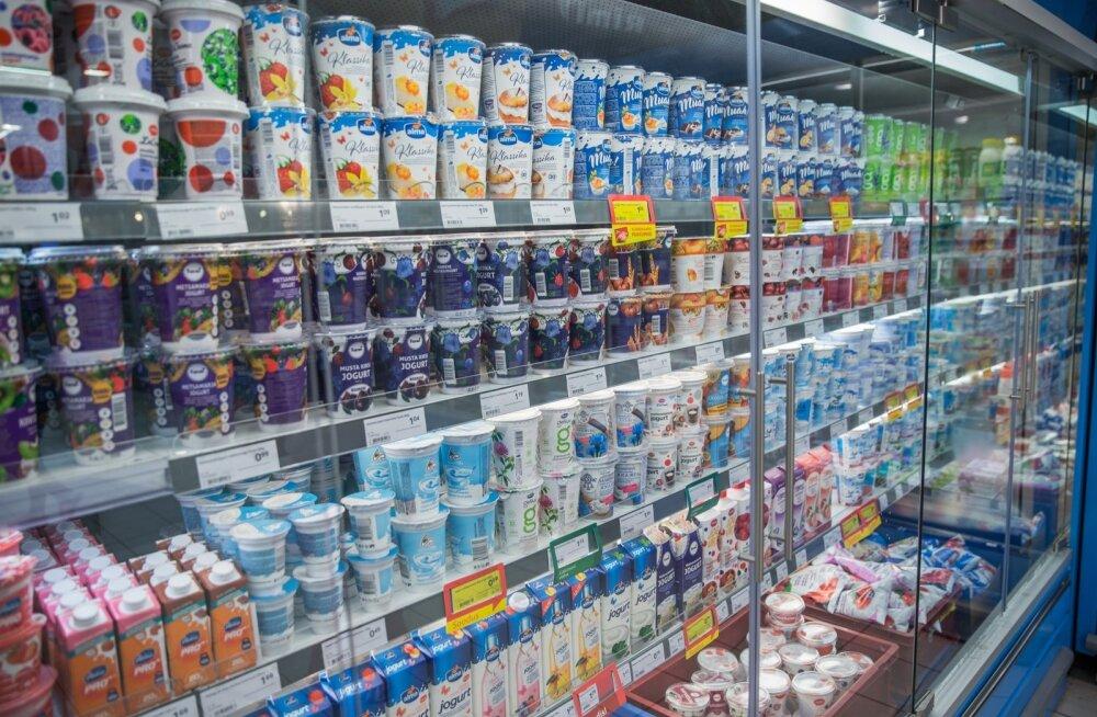 Piima- ja mahlatooted pärast suhkrumaksu