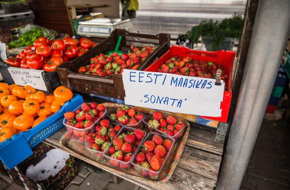 Maasika hinnad Tartu turul