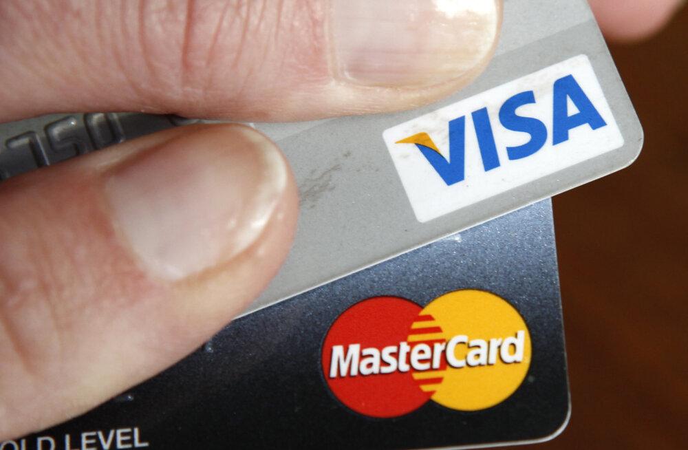 USA krediitkaardivõlg möödus kriisieelsest verstapostist
