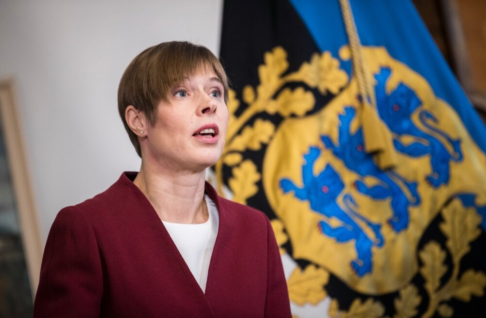 President Kersti Kaljulaid esitles riigikontrolöri kandidaati Janar Holmi