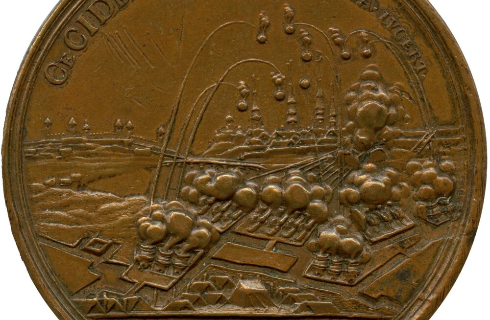 Philipp Heinrich Müller, medal Narva lahingu mälestuseks 1713-1714