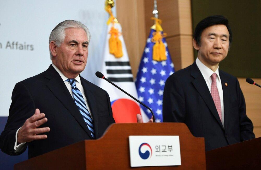 USA välisminister Tillerson: sõjategevus Põhja-Korea vastu on laual olev valikuvõimalus