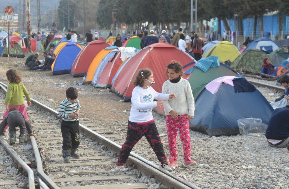 Idomeni laager Kreeka ja Makedoonia piiril