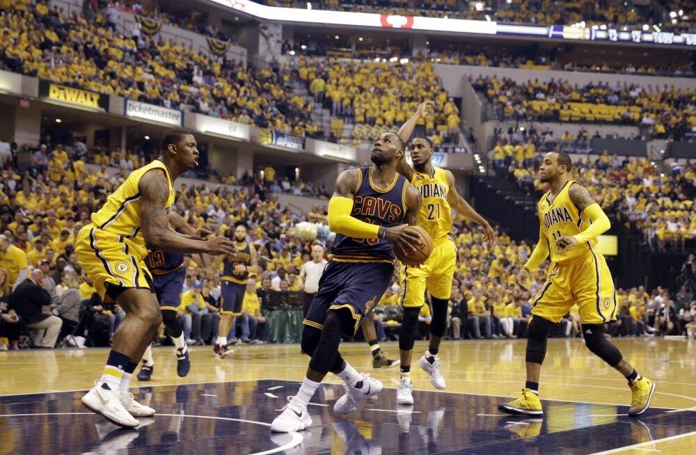 LeBron James vedas Clevelandi Indiana vastu võidule
