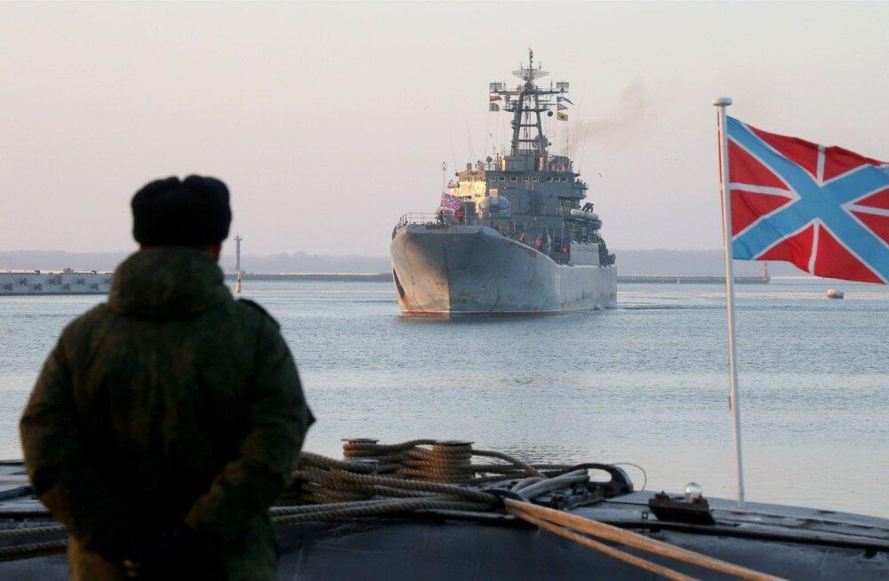 Suur dessantlaev Kaliningrad siseneb Baltiiski baasi.