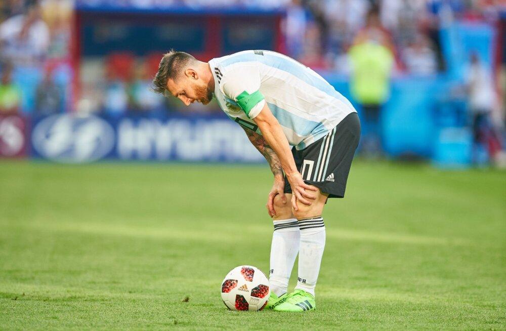 Lionel Messi tänavusel MMil pärast kaotust Prantsusmaale
