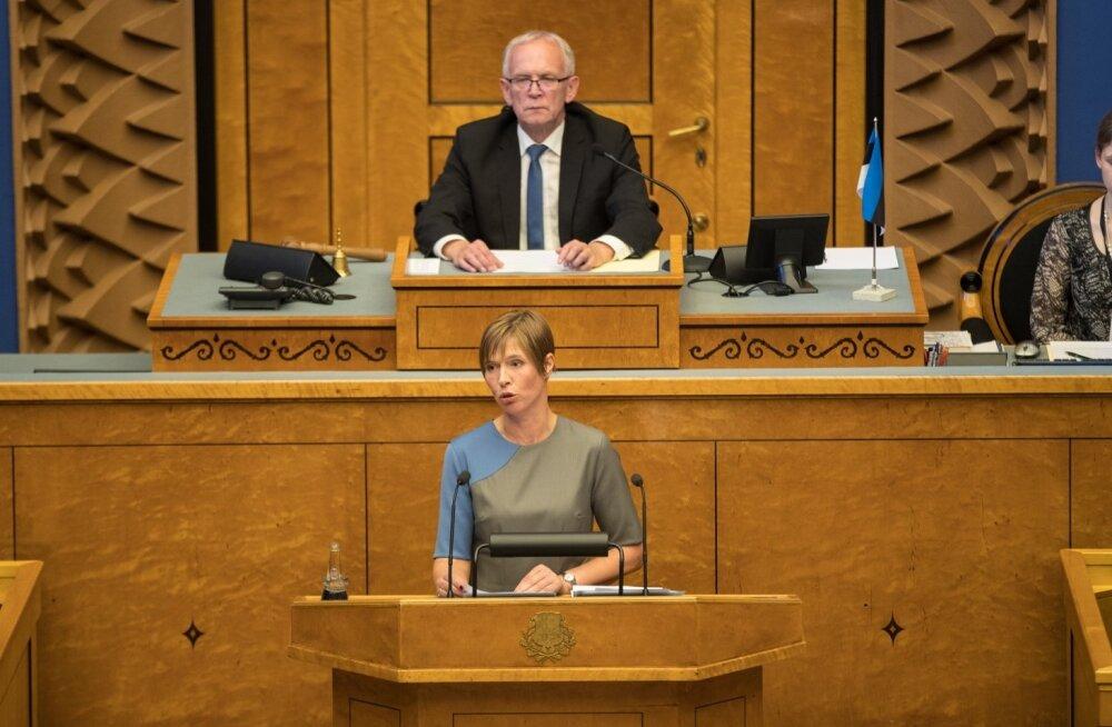 President Kersti Kaljulaid pani riigikogu liikmetele südamele, et nad peaksid oma ametist lugu mitte üksnes iseenda, vaid ka Eesti riigi hüvanguks.