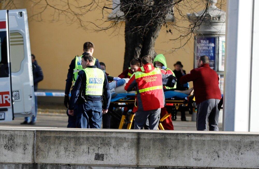 Nugadega mees ähvardas Tallinna kesklinnas inimesi