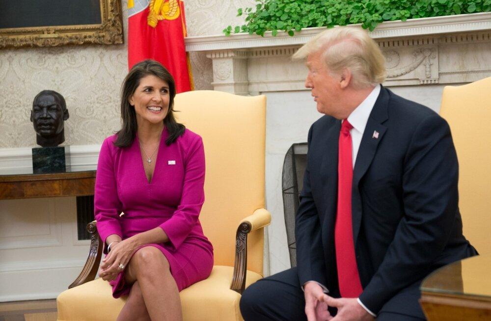 USA suursaadik ÜRO-s Nikki Haley astub tagasi, kuid välistab 2020. aastal presidendiks kandideerimise