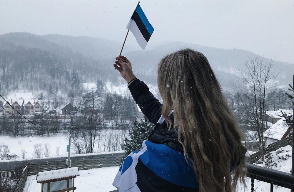 ПОДБОРКА: Сине-черно-белый Instagram. Как жители Эстонии отмечают 24 февраля