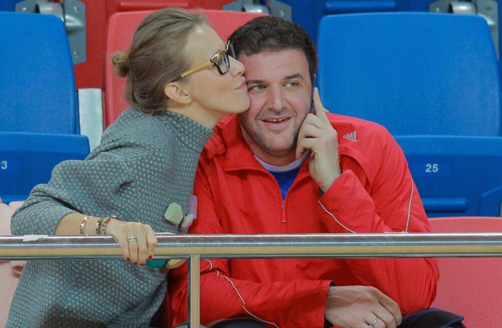 Maxim Vitorgan and Ksenia Sobchak