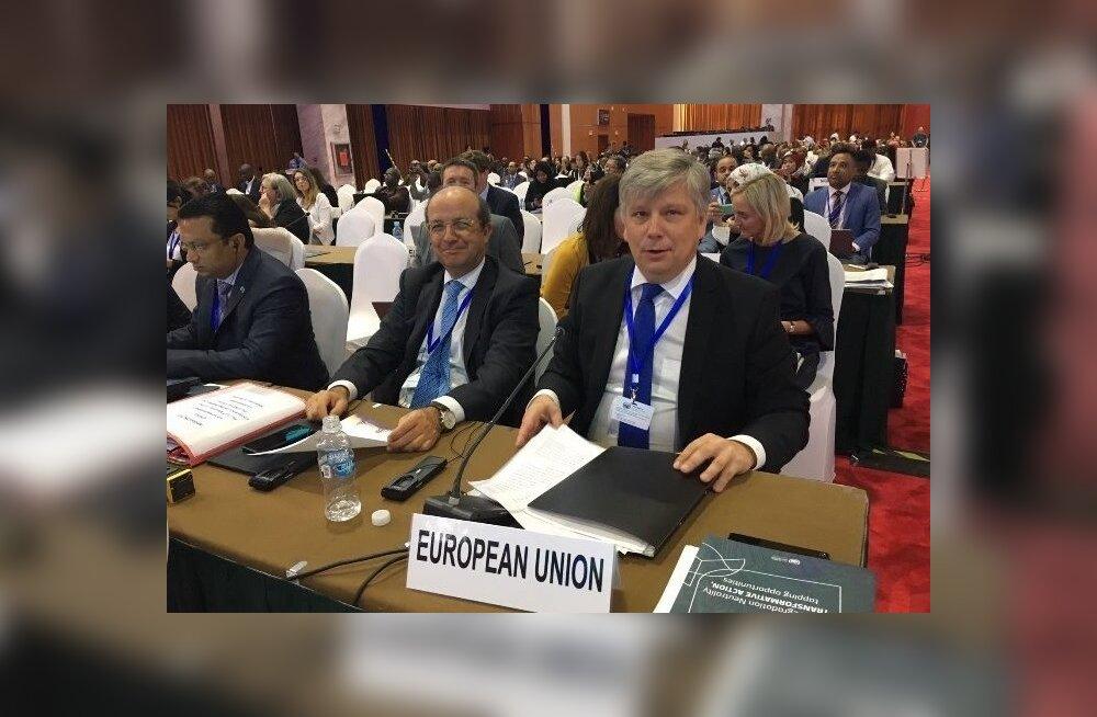 esti keskkonnaminister Siim Kiisler ja Euroopa Komisjoni keskkonna peadirektoraadi (DG ENV) peadirektor Daniel Calleja Crespo täna hommikul toimunud  konverentsi avamisel.