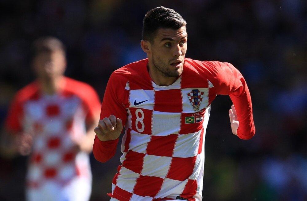 Mateo Kovacic Horvaatia koondise ridades.