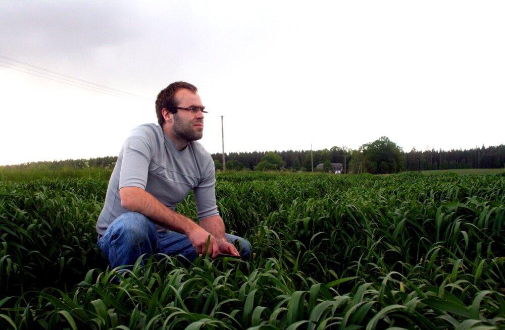 IT-mehest põllumeheks hakanud Vahur Meus kasutab oma loodud VitalFieldsi programmi kõigepealt iseenda põllul.