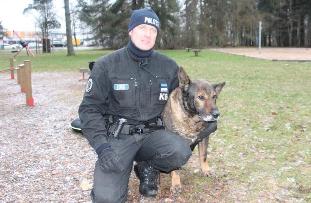 Заслуженный полицейский пес Комо вышел с почестями на пенсию