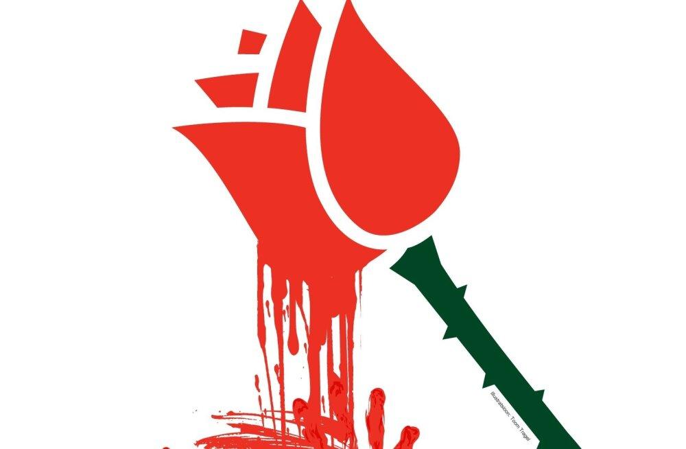 Punaste rooside okkad tilguvad verest. Sotside liikmeskonnas 165 kriminaali